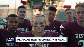 Michigan athlete turned homecoming queen featured in new 'Dream Crazy' Nike ad