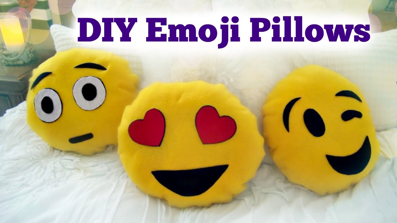Diy Emoji Pillows No Sew: DIY Emoji Pillow   No Sew   YouTube,