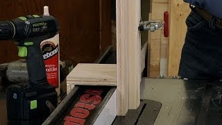 Make A Jig For A Half Lap Joint  |  Woodworkers Guild Of America