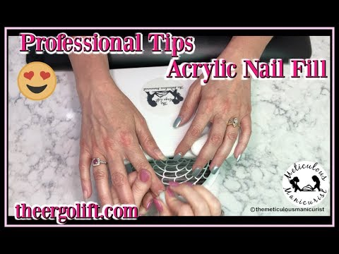 Acrylic Nail Fill Tutorial for Beginners Using The Ergo Lift Hand Rest for Nails thumbnail