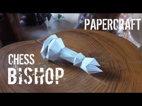Low Poly Chess Bishop - Papercraft #4