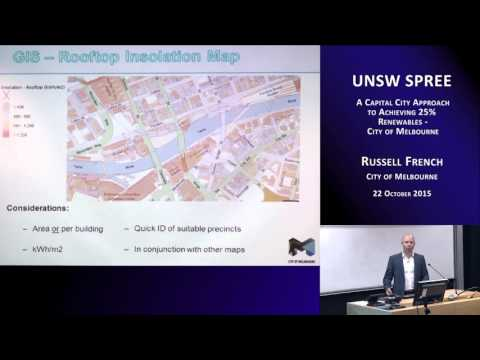UNSWSPREE 201510-22 Russell French - A capital city approach to achieving 25% renewables