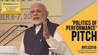 #HTLS 2019: PM Modi slams past govts; makes politics of performance pitch