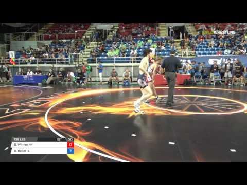 Junior FS 138 Round of 128 - Derrick Witmer (KY) vs. Holden Heller (IL)