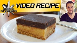 Chocolate Caramel Slice  - Video Recipe