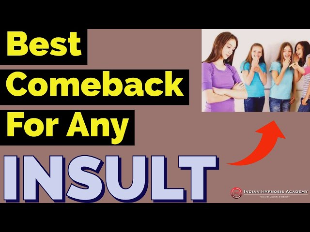 3 Best Comebacks for Any Type of Insult | Tarun Malik (हिंदी में with English subtitles)