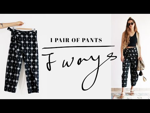 1 Pair Of Pants 7 Ways | Ethical Fashion