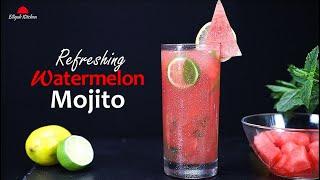 Watermelon Mojito | Wateŗmelon Mocktail | Refreshing Home made Watermelon Juice | Summer Drink