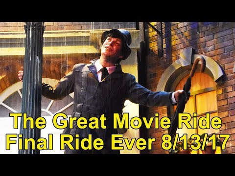 FINAL RIDE EVER of The Great Movie Ride at Disney's Hollywood Studios - Last Car & CM Tribute, 60fps