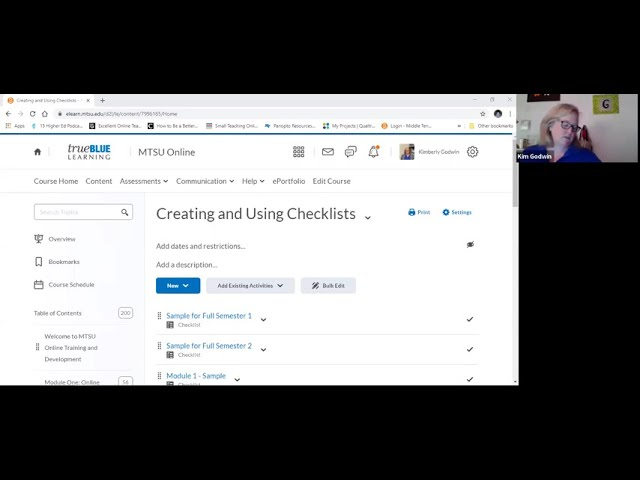 Helping Students Get Stuff Done: Creating Checklists in D2L