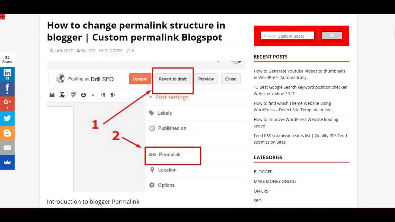 How to change permalink structure in blogger custom permalink how to change permalink structure in blogger custom permalink drill seo ccuart Images