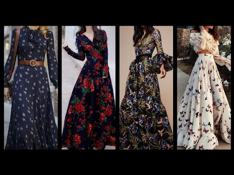 high-quality-floral-print-silk-and-chiffon-long-maxi-dresses-and-skater-dresses-design-ideas
