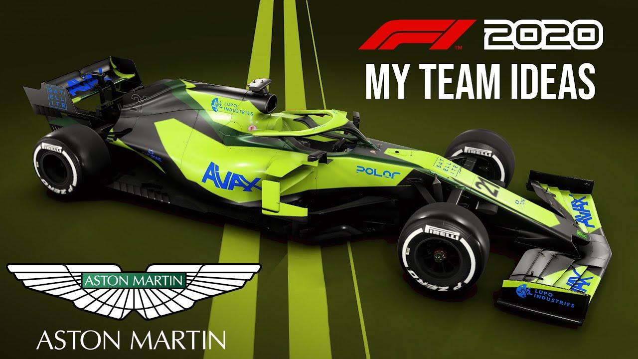 F1 2020 My Team Career Mode Livery Ideas Monster Energy Honda Aston Martin Youtube