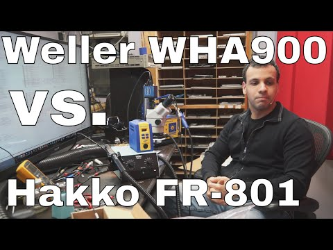 Weller WHA900 hot air station review and comparison to Hakko