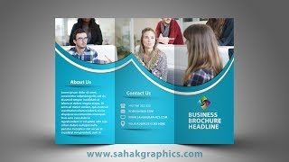 Tri Fold Brochure Design | In Photoshop cc tutorial by sahak