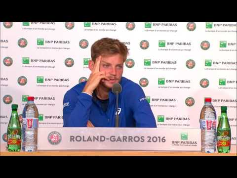French Open 2016: David Goffin QF Post Match Interview