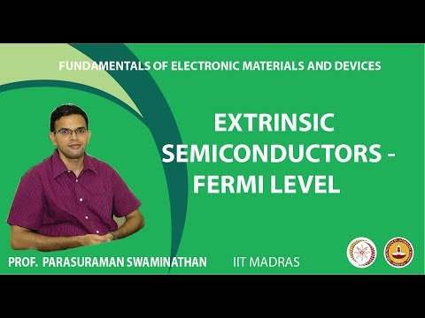 Extrinsic semiconductors - Fermi level