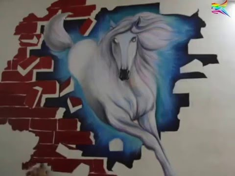 3d Wall Painting Of Horse By Sarvam Patel Mumbai India