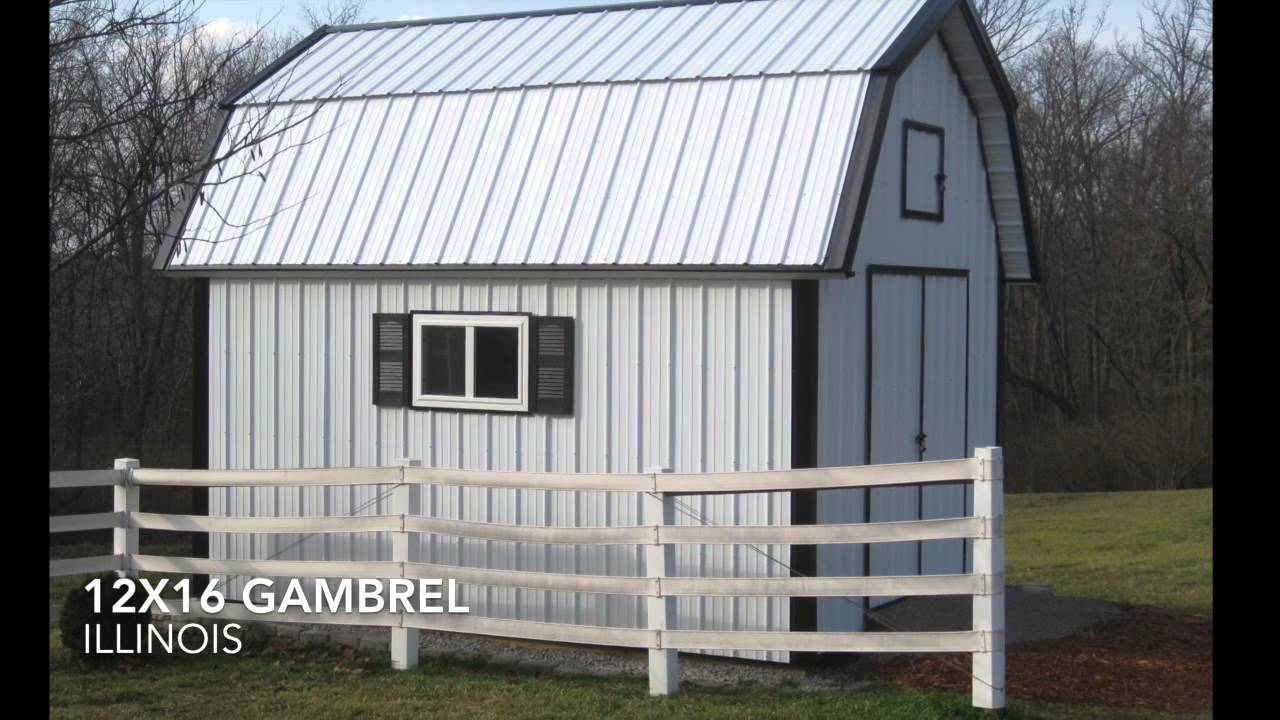 12x16 Gambrel Shed Plans From Icreatablestv Youtube