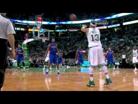Delonte West Lucky 3 Pointer (Alley-Oop Pass Attempt) *Funny Play*