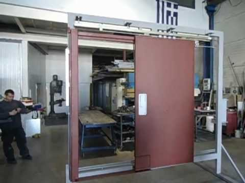 Marine Fire Proof Sliding Door A60 Hydraulic Brake Youtube