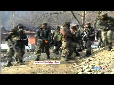Pakistan army violates ceasefire on LoC | India | News7 Tamil
