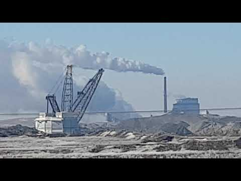 Strip Mining Coal Estevan Saskatchewan Canada
