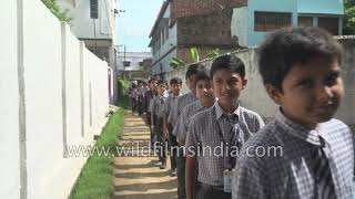 Indian school celebrates India's Independence Day : Holy Mission School in Bihar