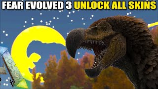 Gambar cover ARK FEAR EVOLVED 3, HOW TO UNLOCK ALL THE SKINS | ARK SURVIVAL EVOLVED