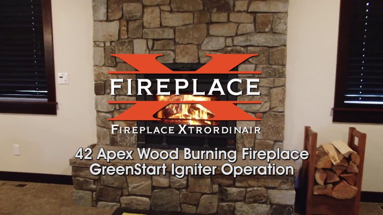 fireplace xtrordinair 42 apex wood burning fireplace youtube