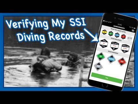 Updating your SSI App diving records. Total dives, max depth, longest dive