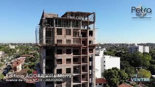 AVANCE DE OBRA: Edificio AGORA Villa Morra, JULIO 2020