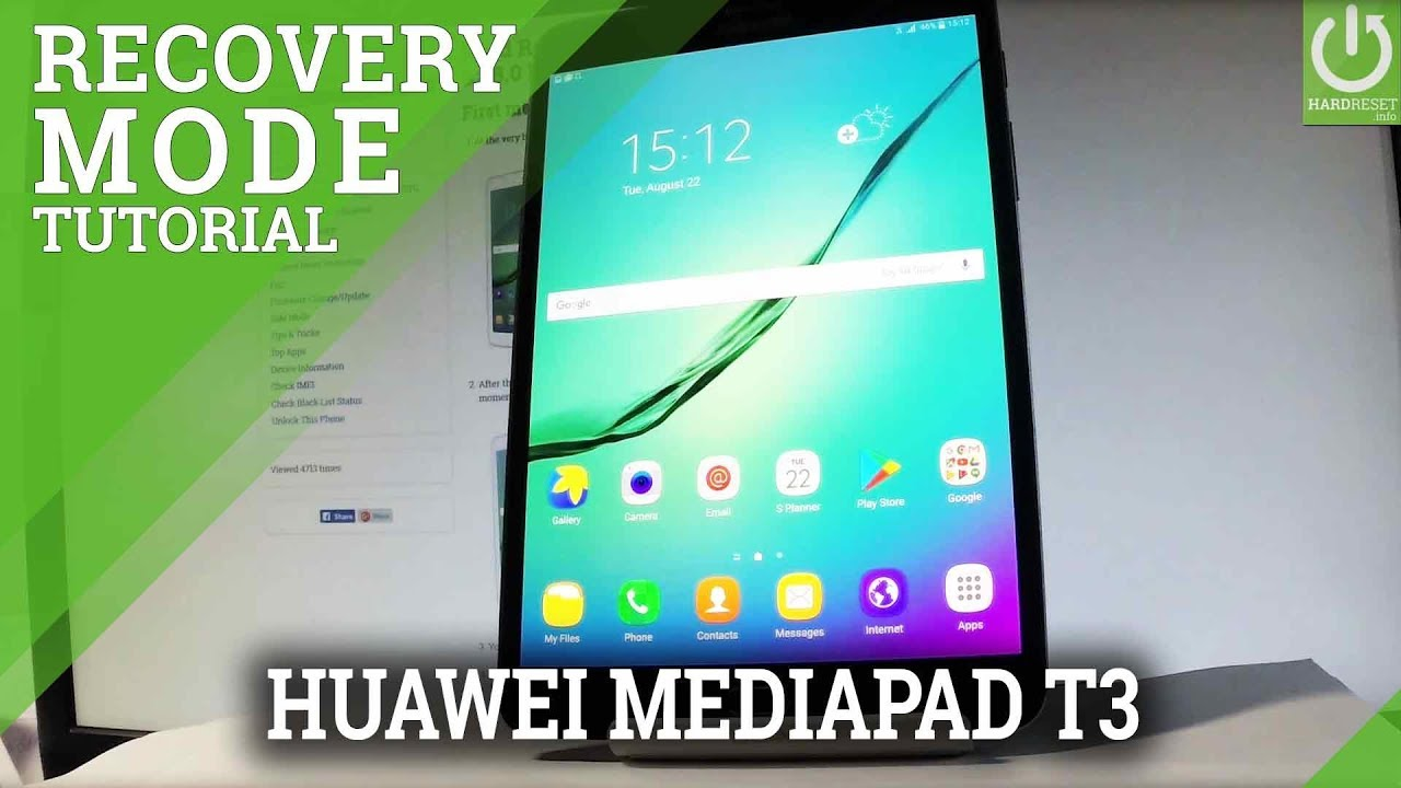 EMUI RECOVERY MODE in HUAWEI MEDIAPAD T3 by HardReset Info