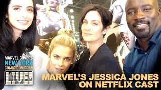 Krysten Ritter & the cast of Marvel's Jessica Jones drop by Marvel LIVE!
