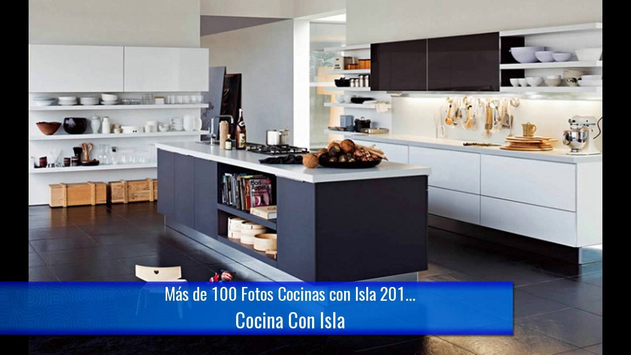 De 100 fotos cocinas con isla 2017 youtube for Islas para cocinas integrales