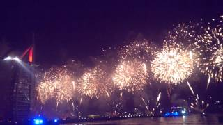 UAE 42nd National Day fireworks Burj Al Arab