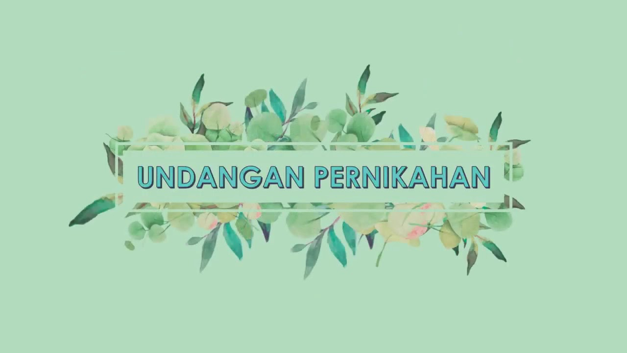 Template Video Undangan Pernikahan digital PowerPoint ...