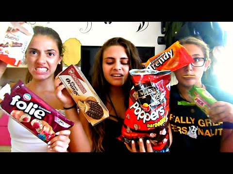My American friends try greek snacks