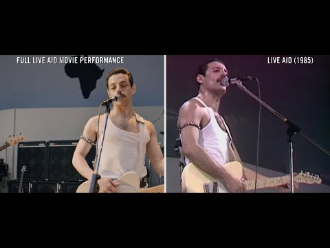 Bohemian Rhapsody - Crazy Little Thing Called Love | Live Aid Side By Side