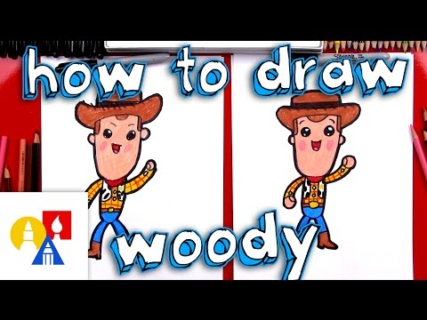 How To Draw Cartoon Woody From Toy Story