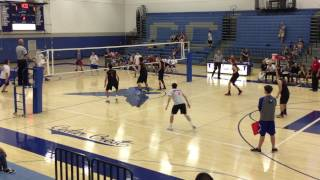 2017 hempfield hs boys volleyball varsity at cedar crest game 2 of 3 4 20 2017