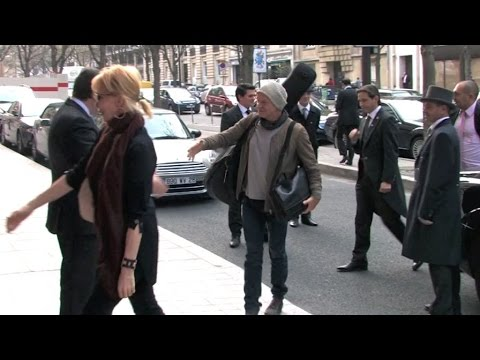 Sting and his wife Trudie Styler in Paris