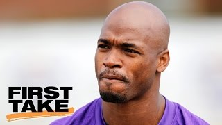 Adrian Peterson Plans To Sign Two-Year Deal With Saints | First Take | April 25, 2017 thumbnail