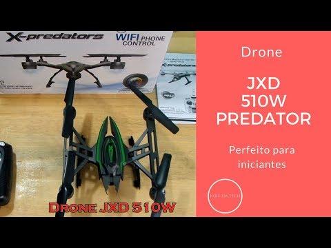 Drone JXD 510W Predator, Quadcoptero com câmera Wifi e FPV no celular