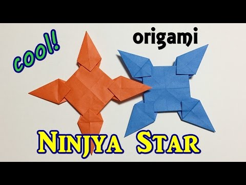 Easy but cool origami Ninjya Star 1 piece of paper | Awesome paper Syuriken for ninja battle play!