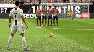 FIFA 19 CRISTIANO RONALDO FREE KICK GOALS COMPILATION