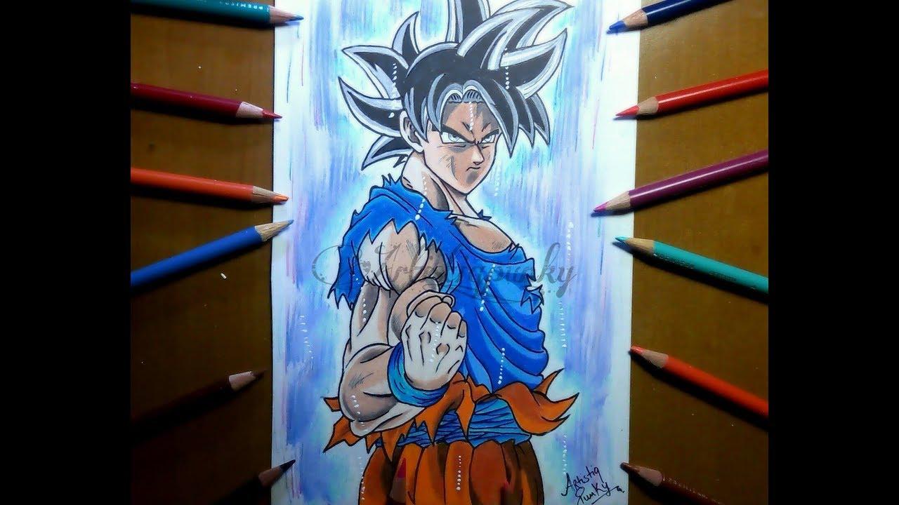 Drawing goku ultra instinct goku u i dragon ball super speed art youtube - Goku ultra instinct sketch ...