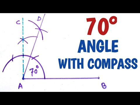How to construct 70 degree angle with compass....