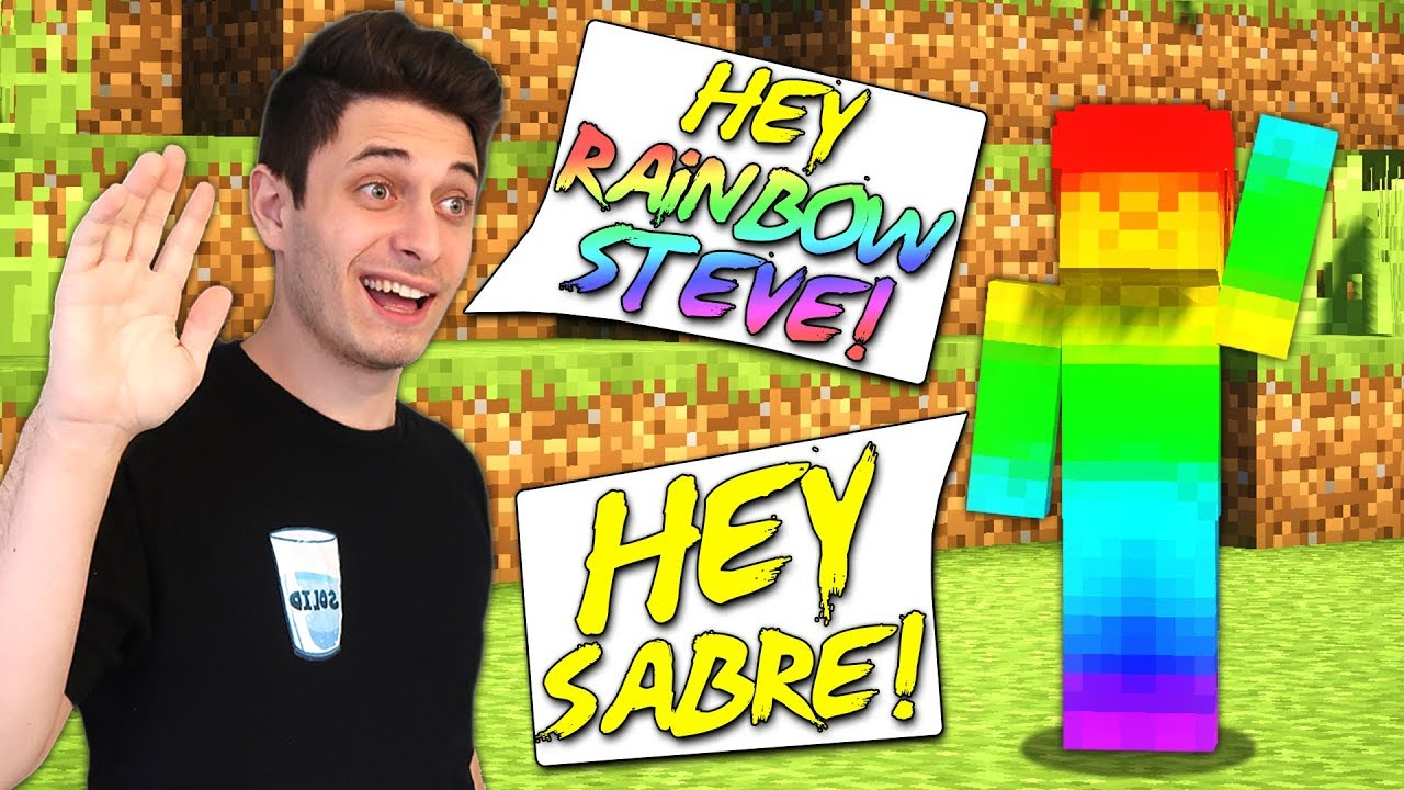 Meeting Rainbow Steve In Real Life Vr Minecraft Youtube