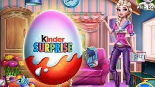 Frozen Elsa Opening Kinder Surprise Eggs, Eğlenceli Çocuk Videosu